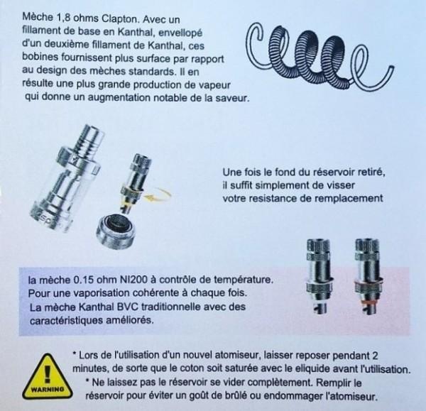 instruction des mèches Aspire Triton Mini